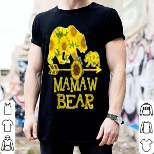 Beautiful Mamaw Bear Sunflower Funny Mother Father Gifts shirt