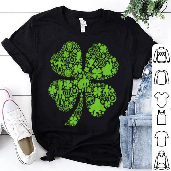 Beautiful Marvel Super Heroes Green Shamrock St. Patrick's Day shirt