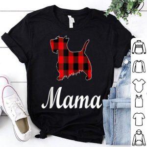 Beautiful Scottish Terrier Mama Red Buffalo Plaid Scottish Terrier shirt