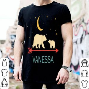 Beautiful Vanessa Name Gift Personalized Mama Bear With 1 Cub shirt