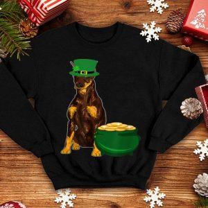 Nice Funny Lucky Doberman Dog St Patrick's Day Gifts Mom Dad Kids shirt