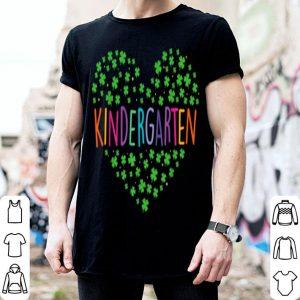 Nice St Patricks Day Gift Kindergarten Teacher Plaid Shamrock shirt
