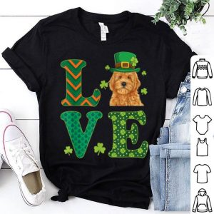 Official I Love My Goldendoodle St Patricks Day Dog Lover Gift shirt