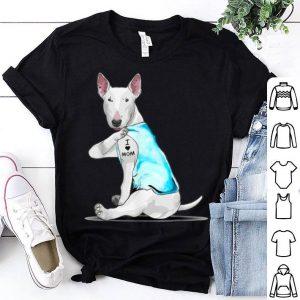 Premium Bull Terrier Tattoos I Love Mom Sitting Gift Mother's Day shirt