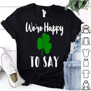 Premium Matching Couple Pregnancy Announcement St Patricks Day shirt