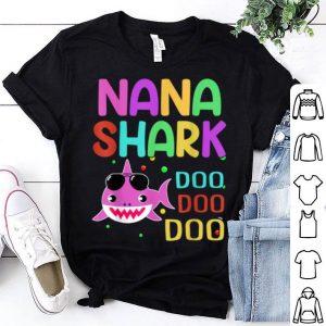 Premium Top Nana Shark Doo Doo Doo Mothers Day Gift shirt
