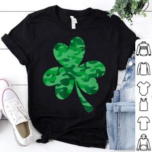Pretty Camouflage Shamrock Green St Patricks Day Men Women shirt