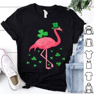 Pretty Flamingo Shamrock Leprechaun St Patricks Day Gifts shirt