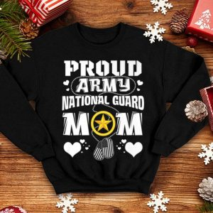 Pretty Lovely Heart Proud Army National Guard Mom Mother shirt