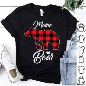 Pretty Red Plaid Mama Bear Matching Pajama Family Buffalo Mom shirt