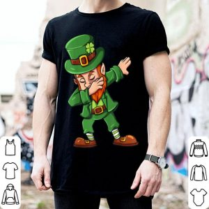 Top St Patricks Day Dabbing Leprechaun Irish Boys Girls Kids Dab shirt
