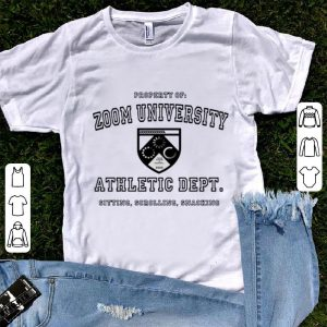 Great Zoom University Athletic Department Sitting Scrolling Snacking shirt