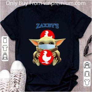 Top Star Wars Baby Yoda Hug Zaxby's Covid-19 shirt