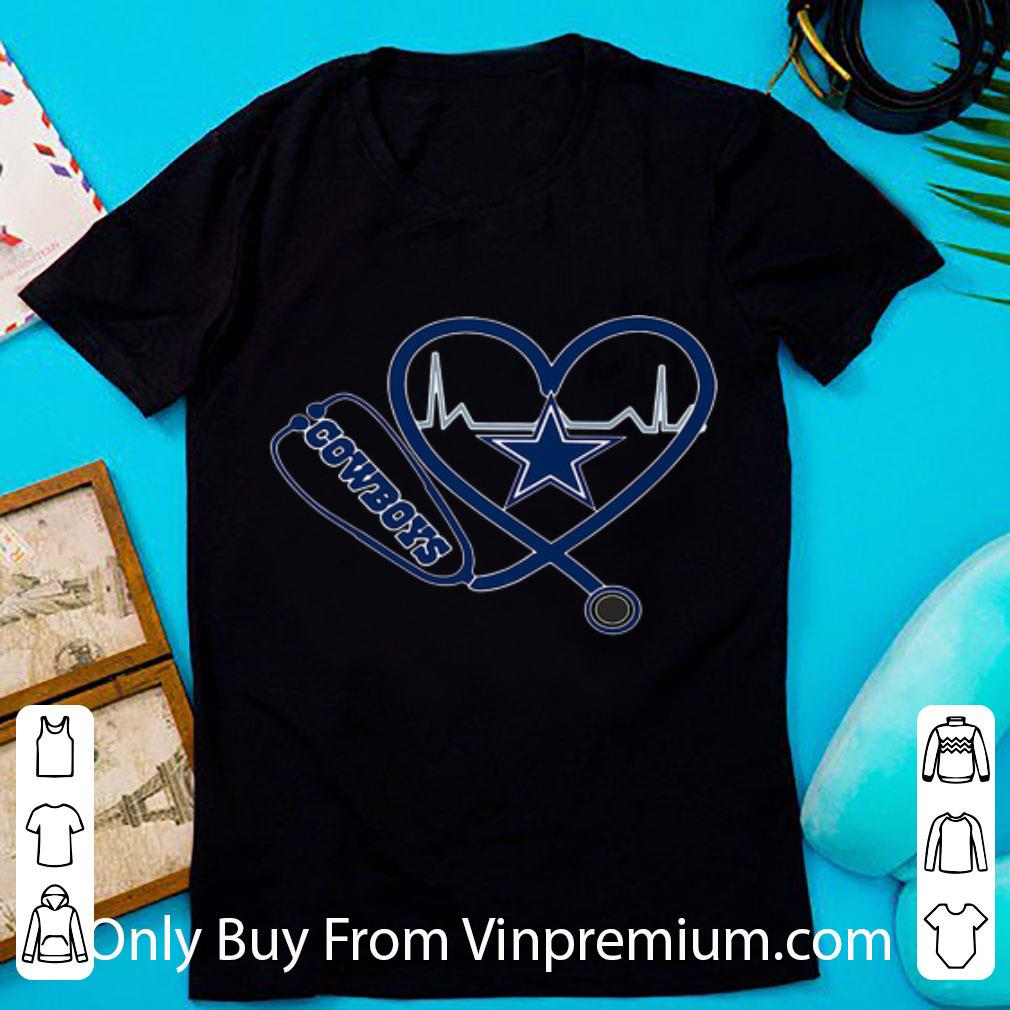 Awesome Dallas Cowboys Nurse Heartbeat Stethoscope shirt