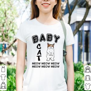 Baby cat meow meow shirt 2