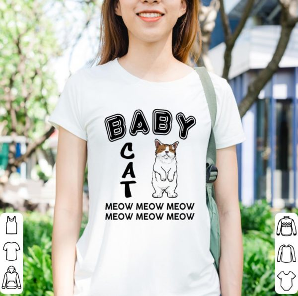Baby cat meow meow shirt