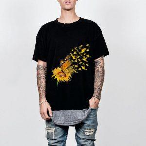 Birds Sunflower butterfly shirt