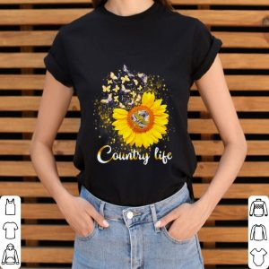 Butterfly Sunflower Country life shirt 2