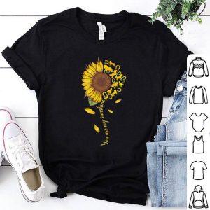 Horseshoe you are my sunshine sunflower shirt