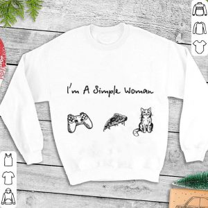 I'm a simple woman Game Handle Pizza Cat shirt