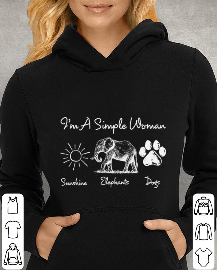I m a simple woman sunshine elephants paw dogs shirt 4 - I'm a simple woman sunshine elephants paw dogs shirt