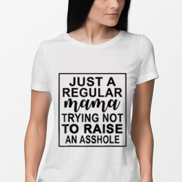 Just a regular mama trying not to raise an asshole shirt