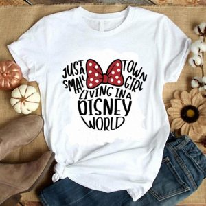 Just a small town girl living in a Disney World Minnie Mouse Head shirt