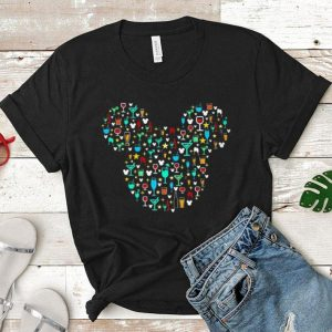 Mickey mouse head wine shirt