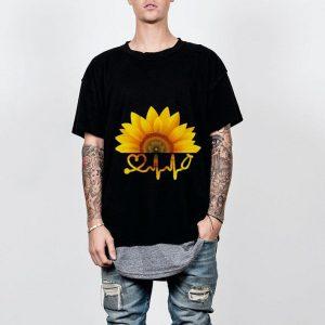 Sunflower nurse heartbeat shirt