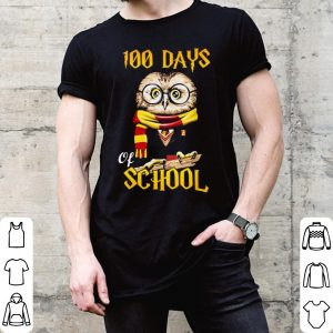 100 Days Owl of school Gryffindor Magic Wizard shirt