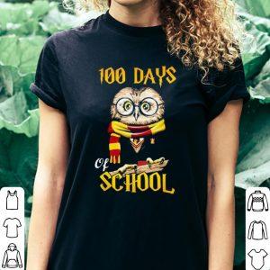 100 Days Owl of school Gryffindor Magic Wizard shirt 2