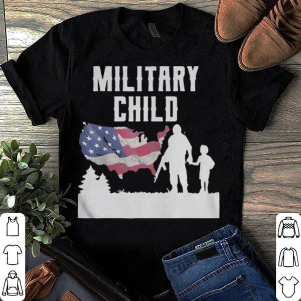 American Flag Military Child shirt