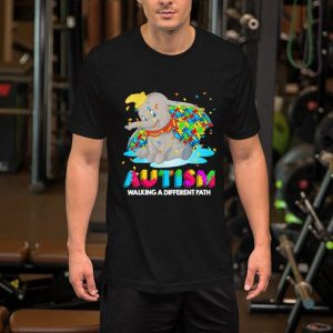 Elephant Dumbo Autism walking a different path shirt