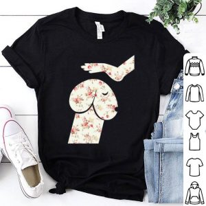 Flowers hand touch head Dachshund shirt