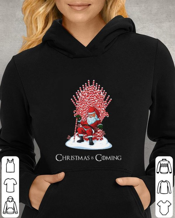Game Of The Thrones Christmas Is Coming Santa Candy Cane Throne shirt
