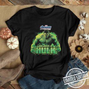 Marvel Avengers Endgame we have a Hulk shirt