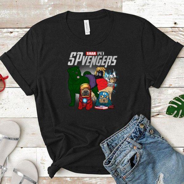 Marvel SPvengers Avengers Endgame Shar Pei shirt