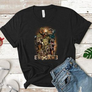 Marvel guardians of the galaxy Groot and Rocket raccoon Endgame shirt