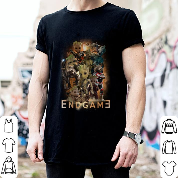 5a988c8a3 Marvel guardians of the galaxy Groot and Rocket raccoon Endgame shirt