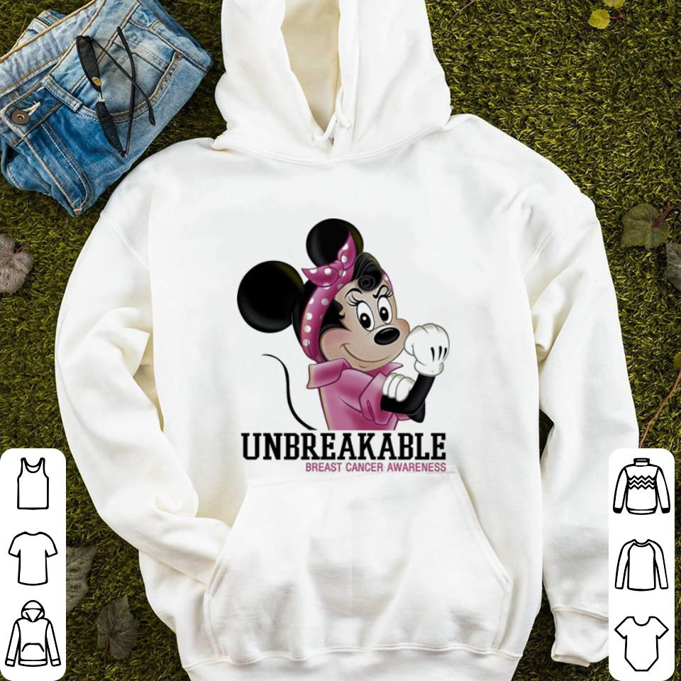 Minnie mouse unbreakable Breast Cancer Awareness shirt 4 - Minnie mouse unbreakable Breast Cancer Awareness shirt