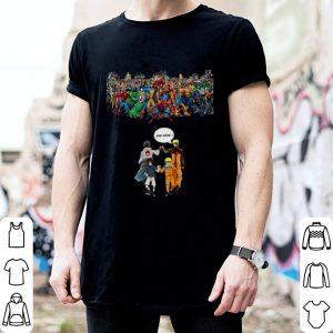 Naruto Sasuke Avengers Endgame Marvel Superheroes shirt