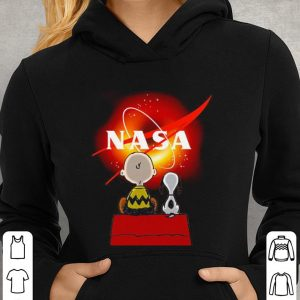 Snoopy and Charlie Brown Black Hole NASA shirt 2