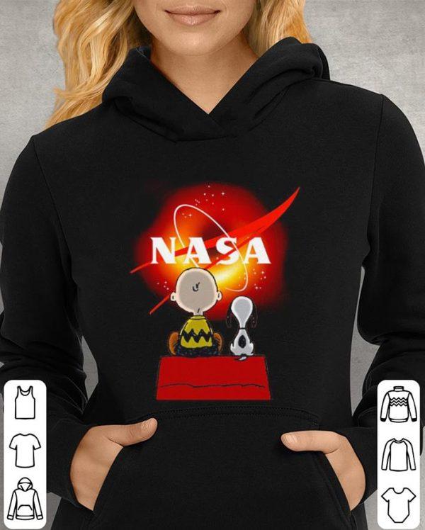 Snoopy and Charlie Brown Black Hole NASA shirt
