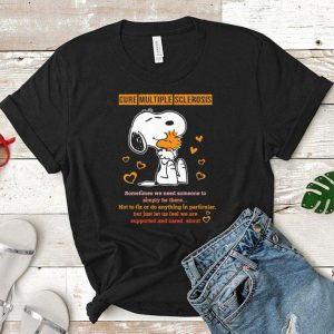 Snoopy and Peanuts cure multiple sclerosis sometimes shirt