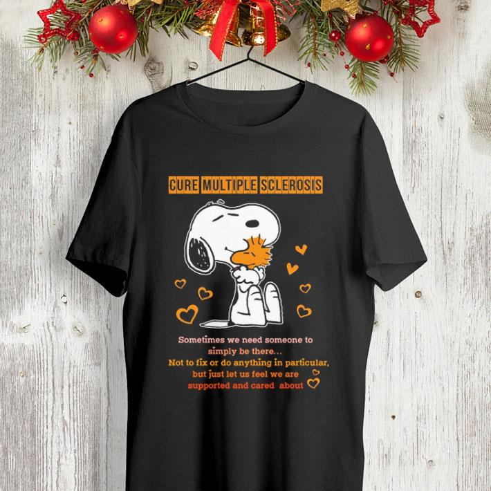 Snoopy and Peanuts cure multiple sclerosis sometimes shirt 4 - Snoopy and Peanuts cure multiple sclerosis sometimes shirt