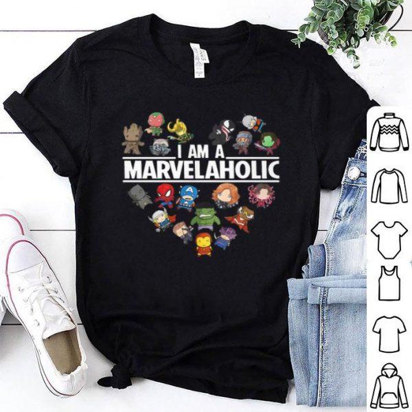 Avengers Endgame I am a Marvelaholic Marvel Aholic shirt
