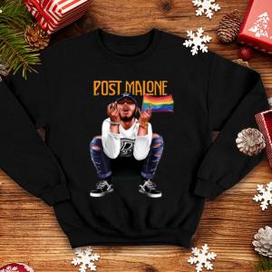 Post Malone American Rapper LGBT Flag shirt 3