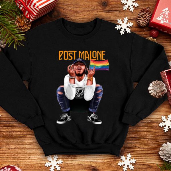 Post Malone American Rapper LGBT Flag shirt
