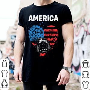 Jeep car love America flag shirt