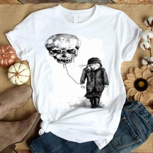Girl Skull balloon shirt